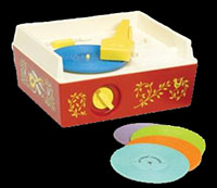Fisher Price Basic Fun 1697 Toy Record Player circa 1971 (I had this, but also had a 'real' record player later, heh)