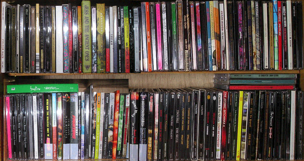 Some of the CDs I bought in 2012
