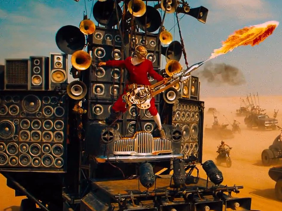 That is an impressive guitar setup in Mad Max...